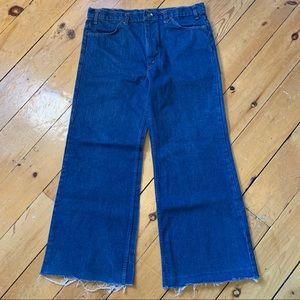 LEVIS vintage 1970's orange tab wide leg jeans
